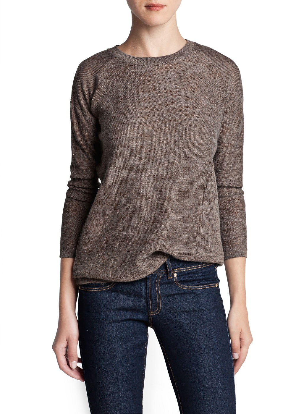 Metallic thread sweater | MANGO