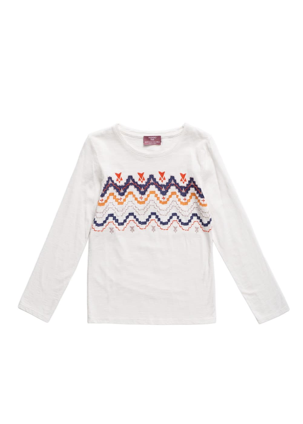 Ethnic embroidery t-shirt | MANGO KIDS