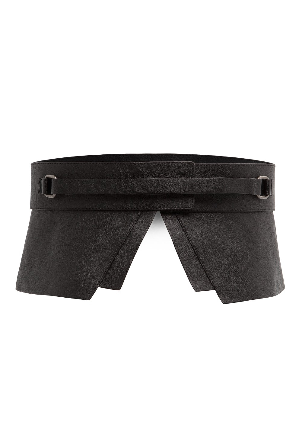 Faux leather peplum belt | MANGO