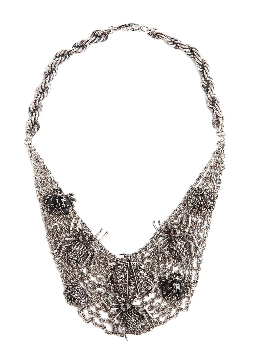 Rhinestone insect necklace | MANGO