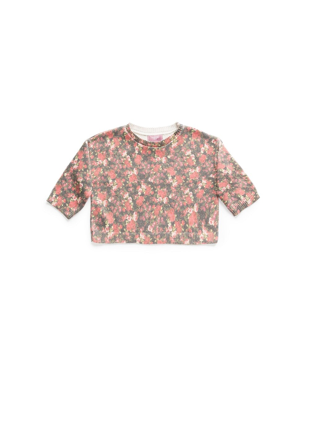 Floral print cropped sweater | MANGO KIDS
