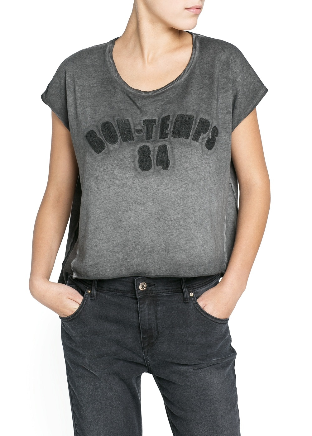 Bon temps cotton t-shirt | MANGO