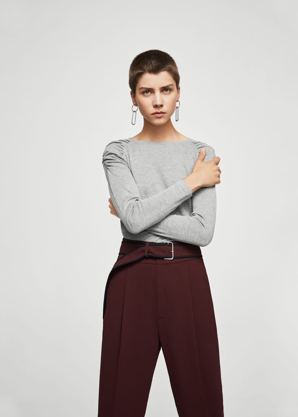 Puffed-shoulder sweater | MANGO