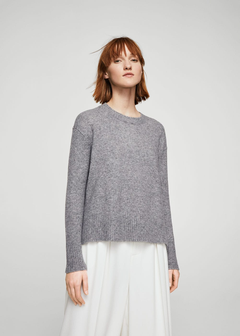 Ribbed panels sweater | MANGO
