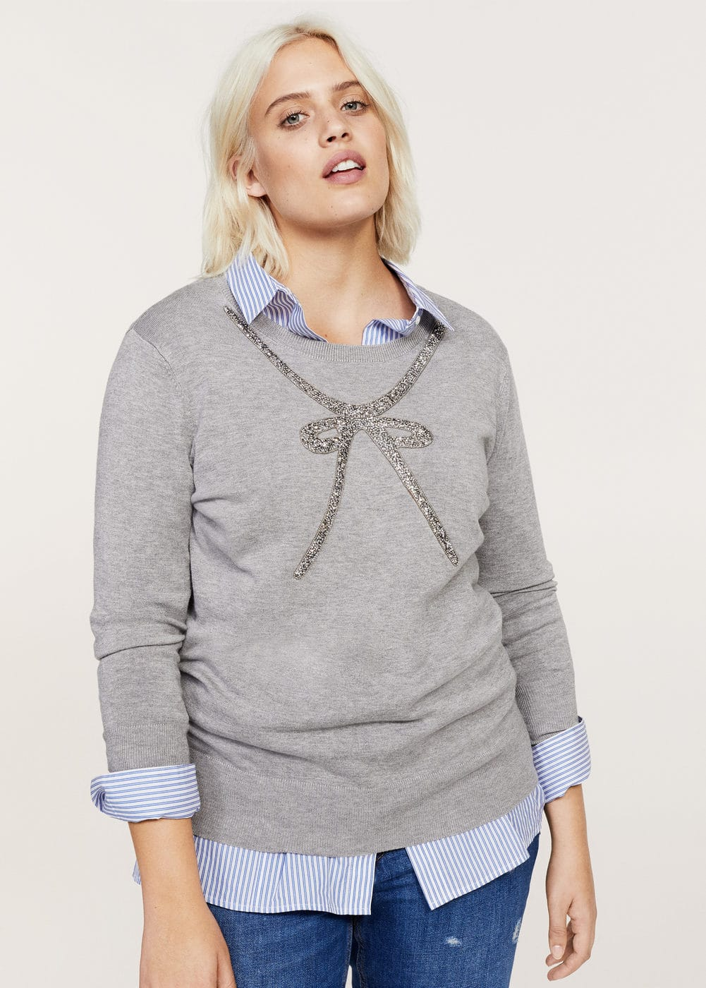 Metal appliqué sweater | VIOLETA BY MANGO