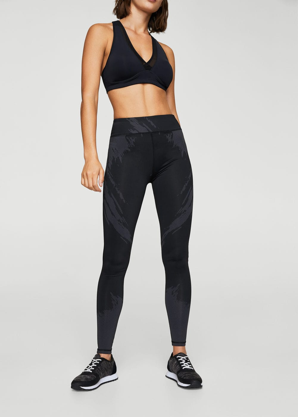 Slimming effect capri leggings | MANGO