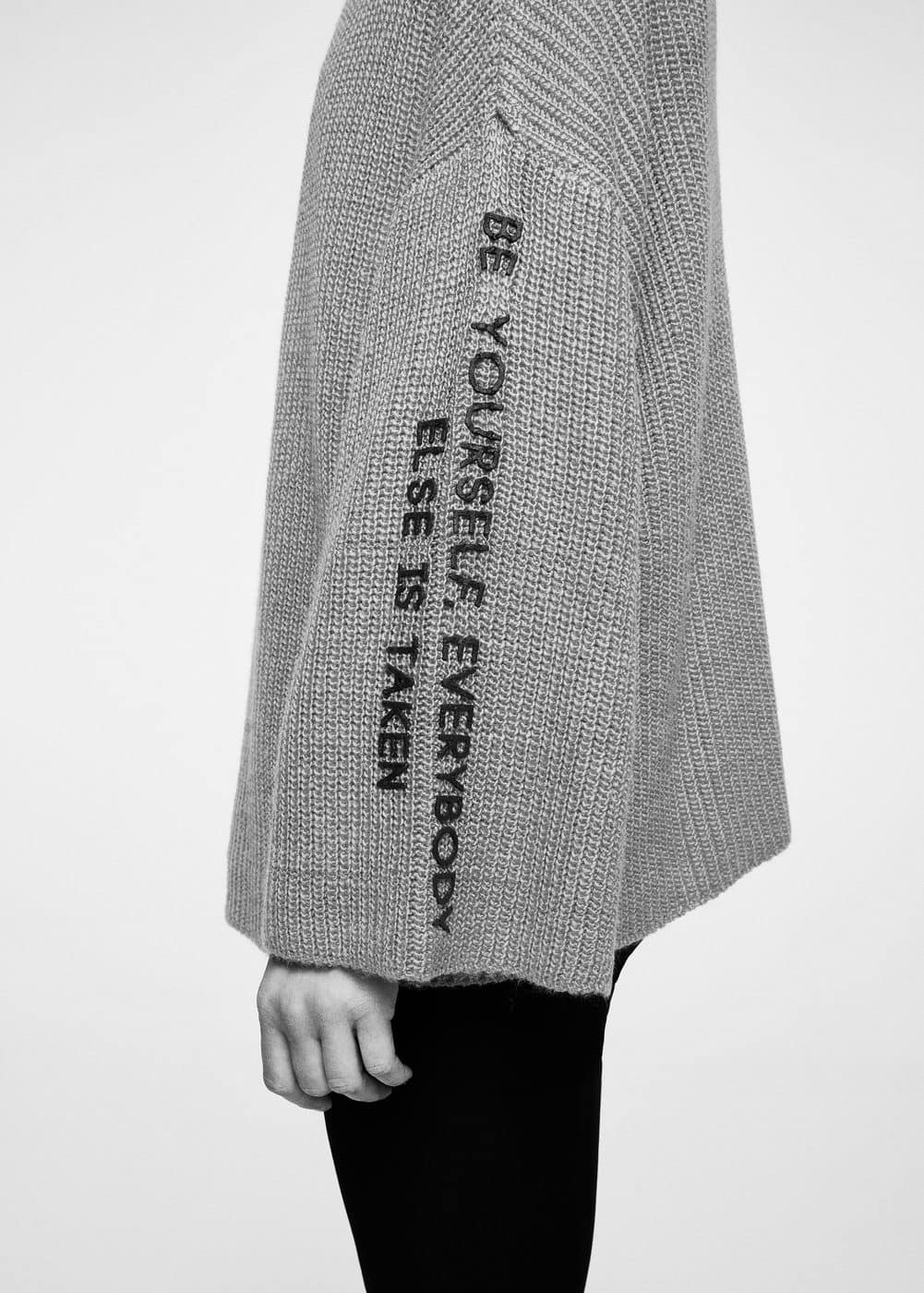Message knitted sweater | MANGO