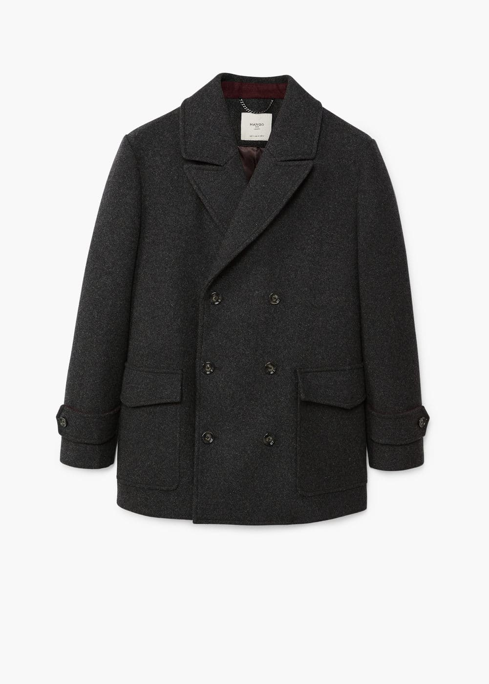 Double button wool peacoat | MANGO