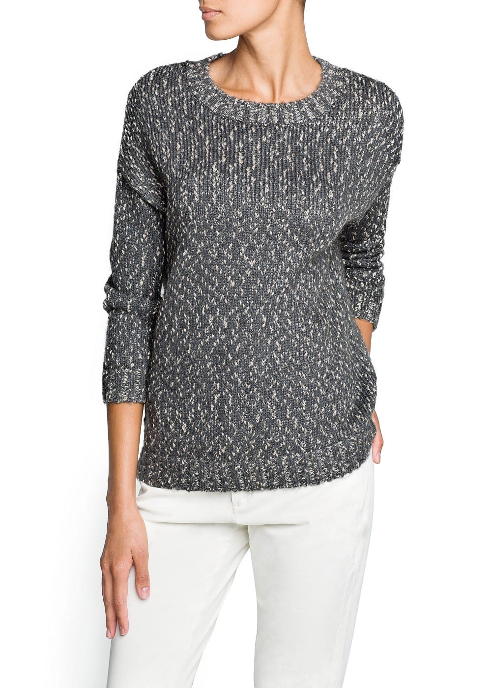 Metallic details mohair sweater | MANGO
