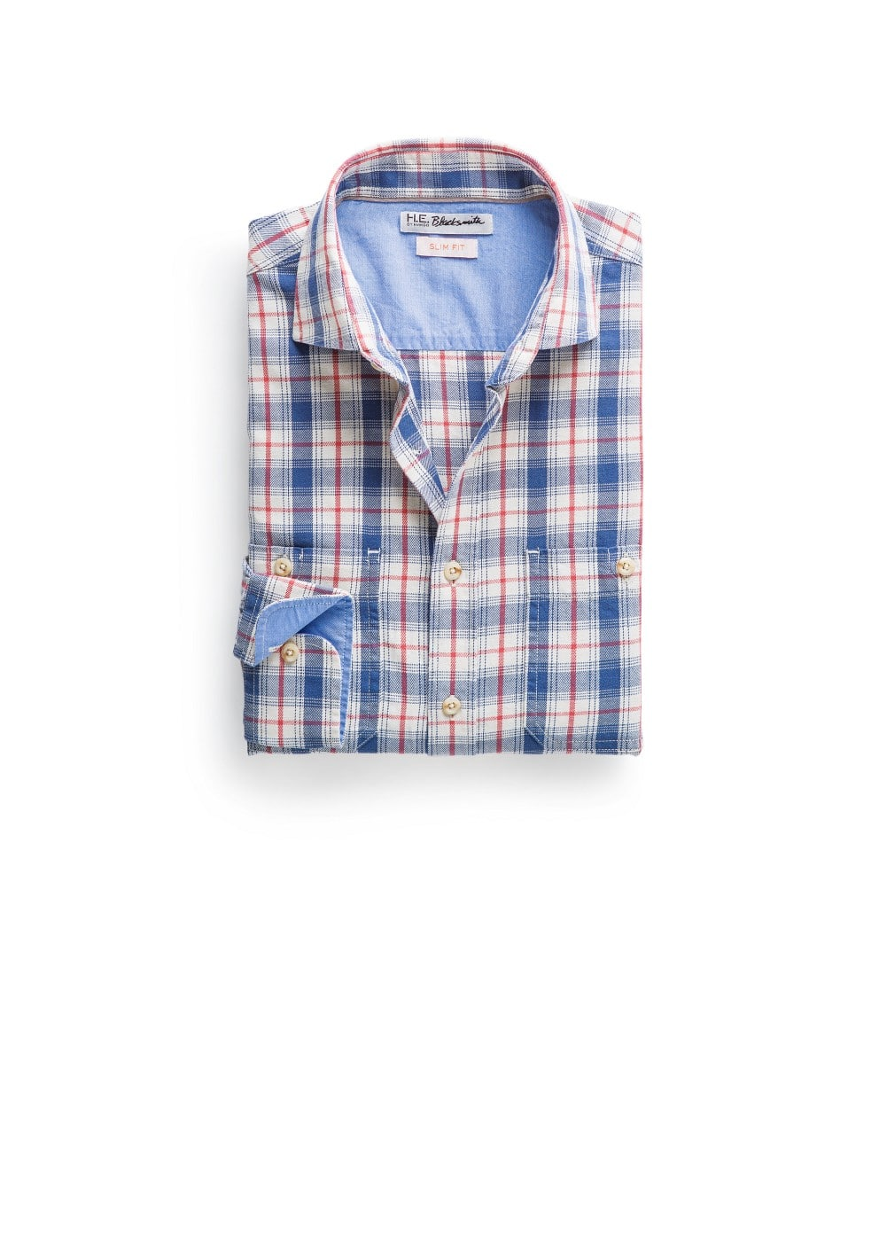 Slim-fit check shirt | MANGO MAN