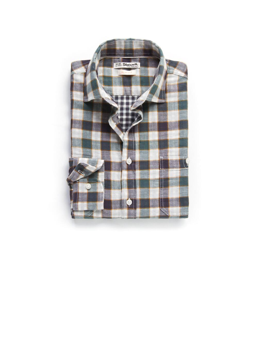 Slim-fit checked shirt | MANGO MAN
