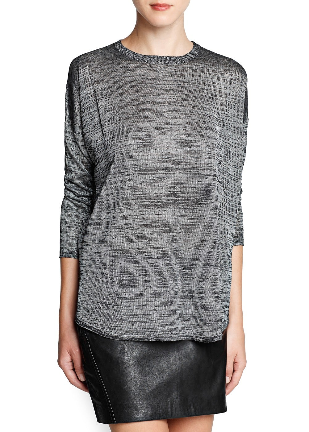 Pearly loose-fit sweater | MANGO