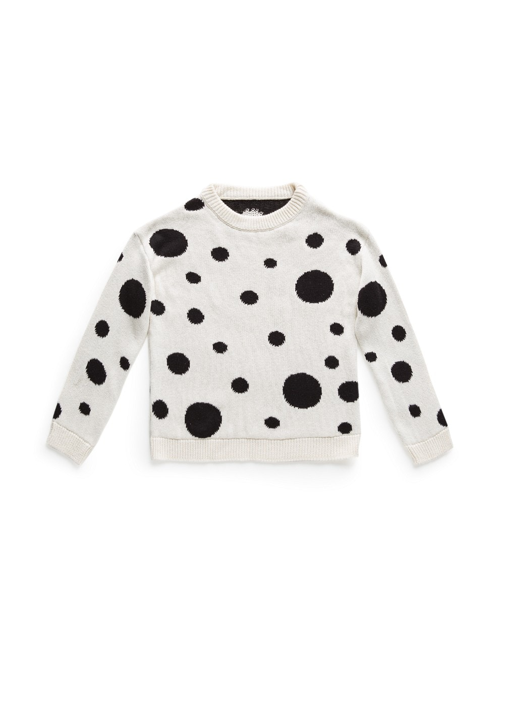 Polka-dot knit sweater | MANGO KIDS
