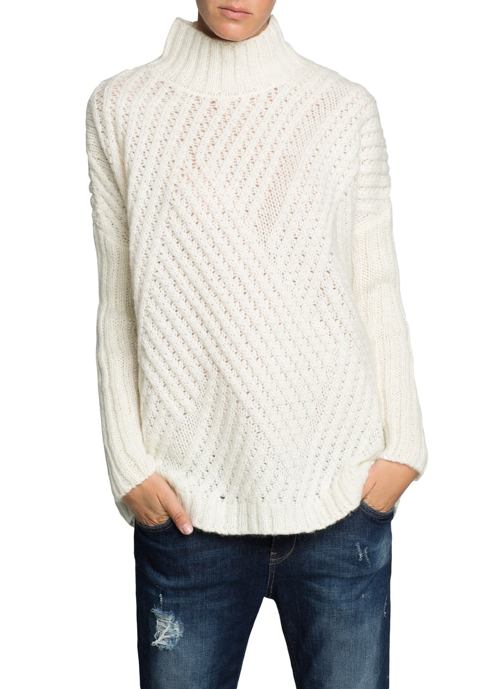 Zigzag mohair wool-blend sweater | MANGO