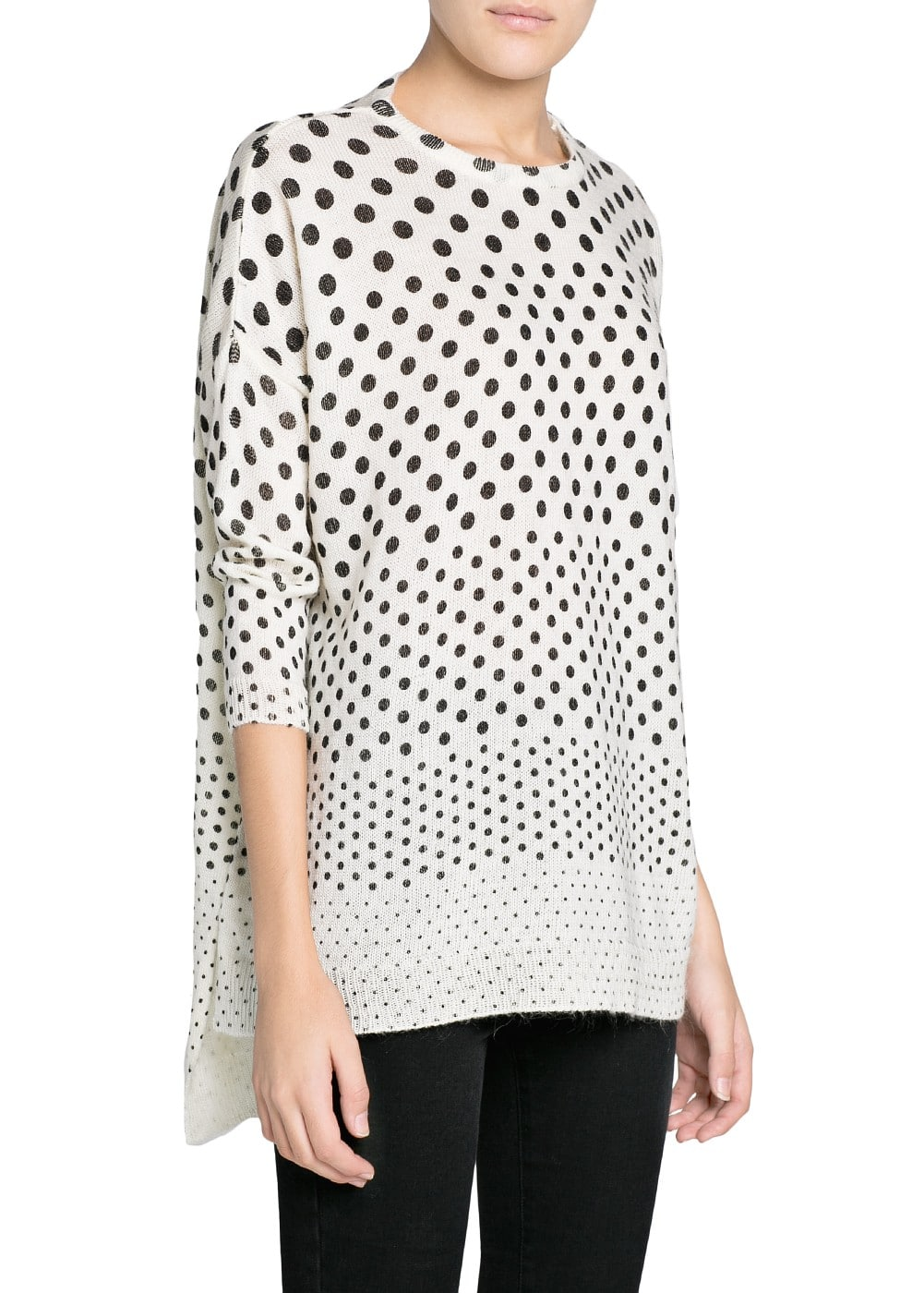 Polka-dot wool-blend sweater | MANGO
