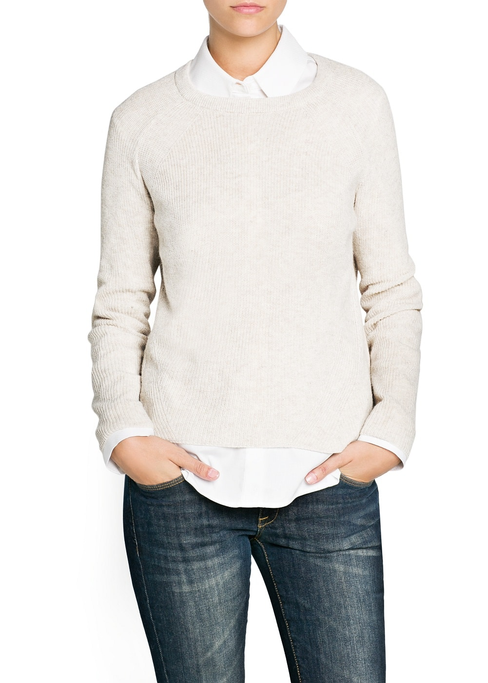 Ribbed angora-blend sweater | MANGO