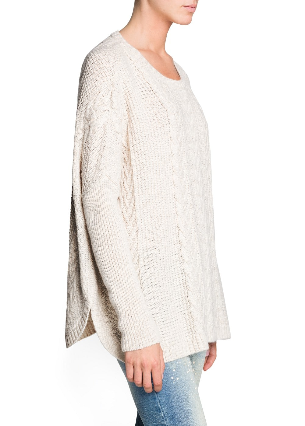 Oversize mohair wool-blend sweater | MANGO