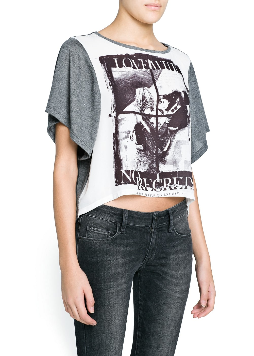 No regrets cropped t-shirt | MANGO