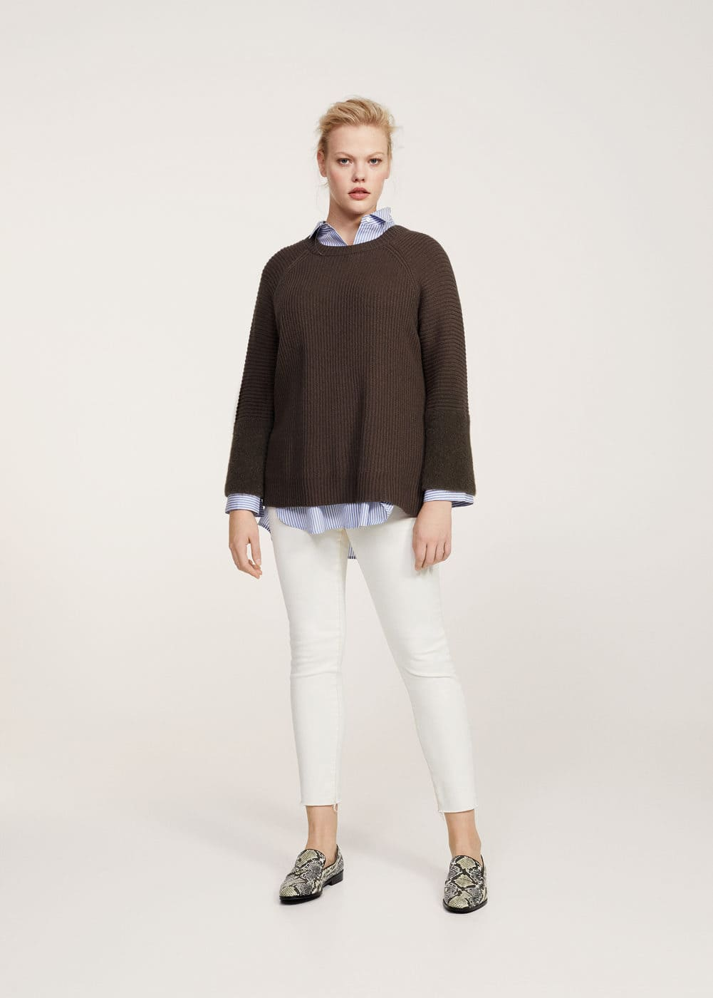 Texture sleeve sweater | VIOLETA BY MANGO