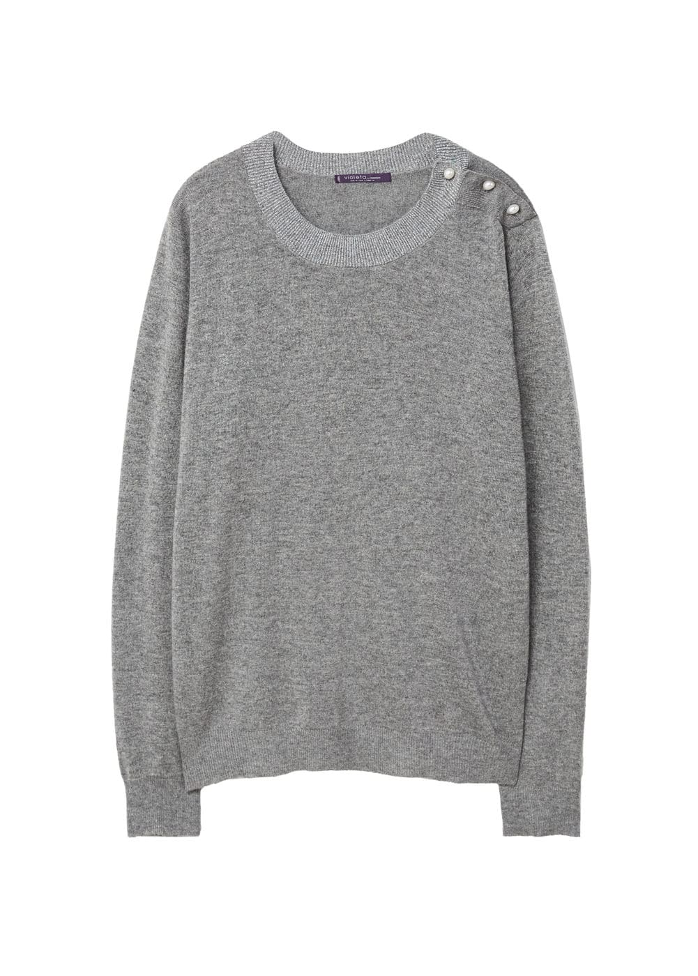 Pull-over ornement brodé perles