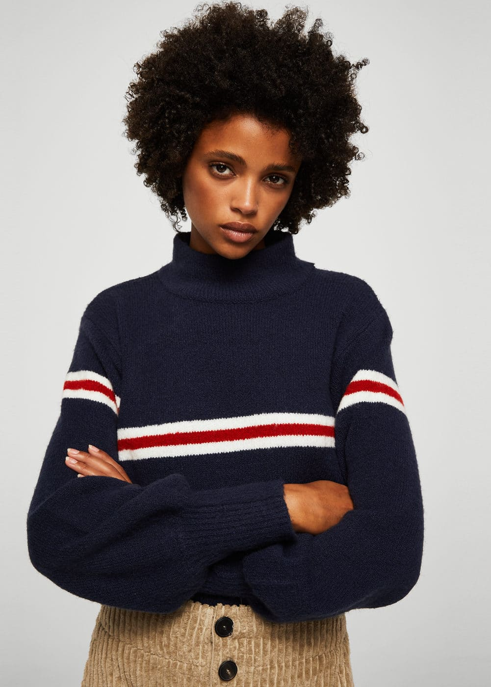 Pull-over à rayures contrastantes | MANGO