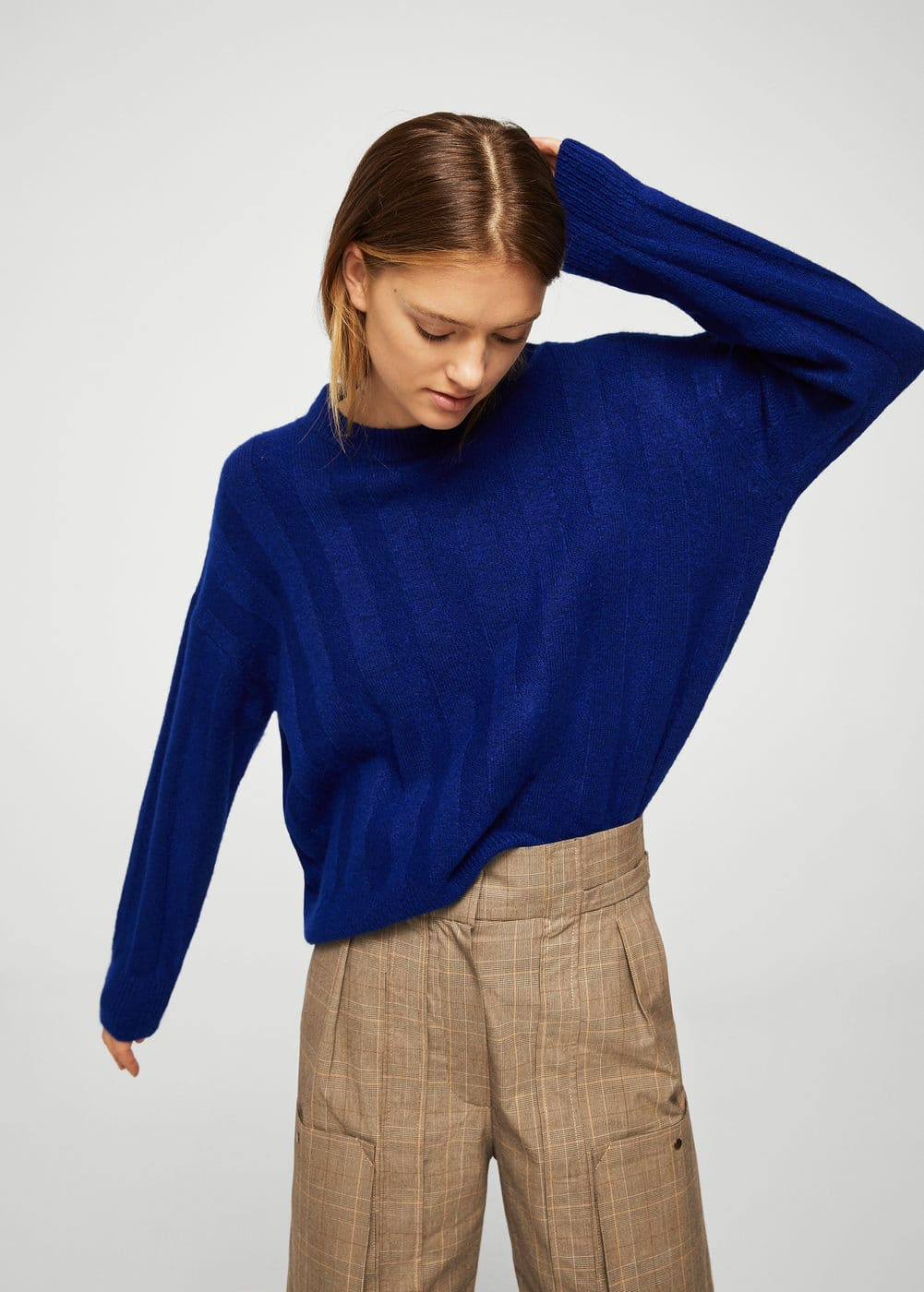 Ribbed detail sweater | MANGO