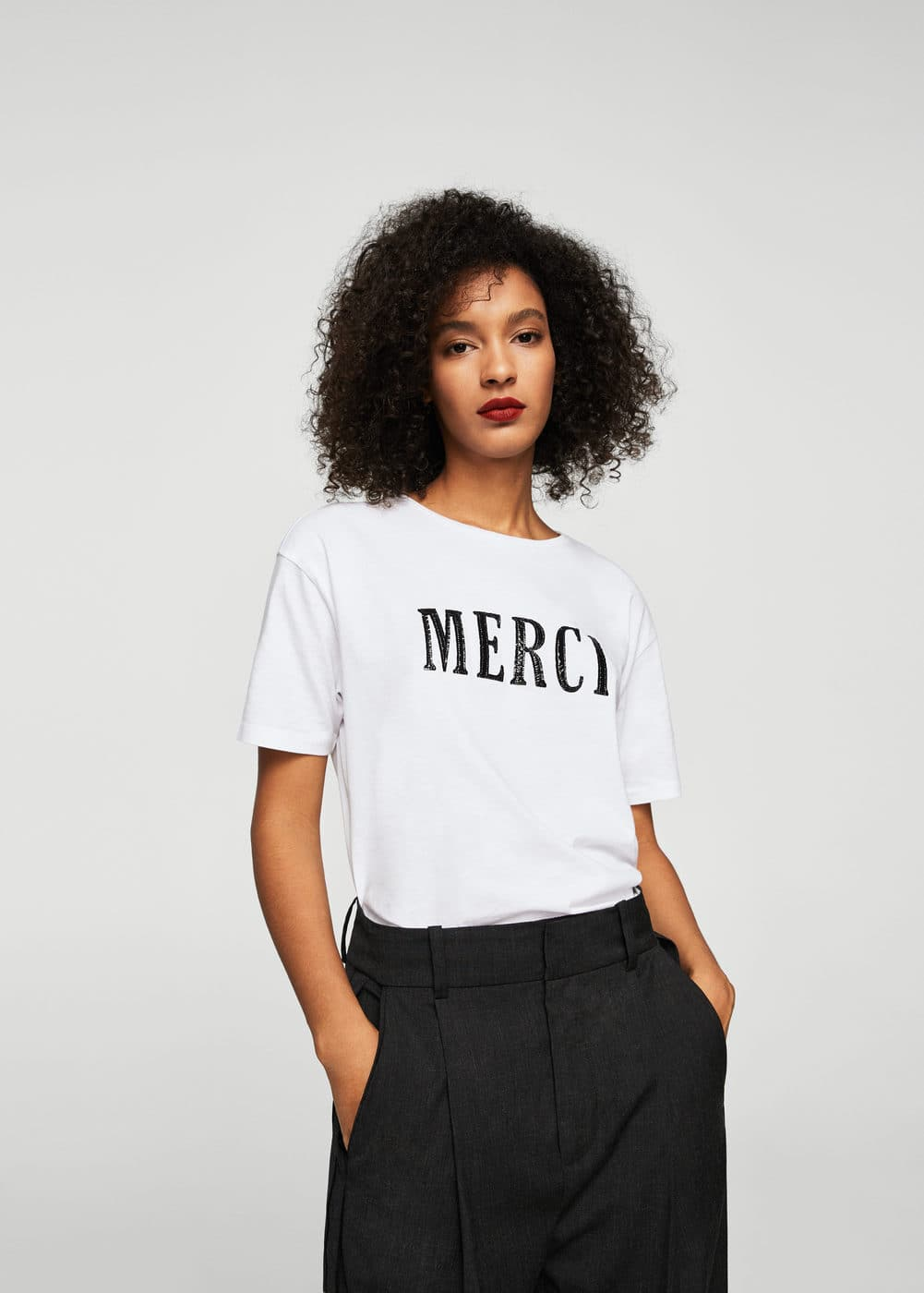 Merci t-shirt | MANGO