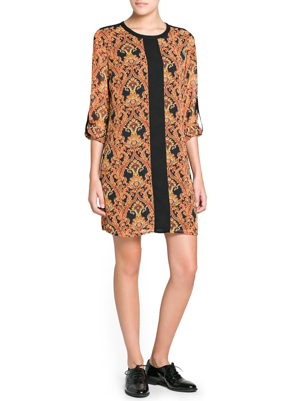 Scarf print chiffon dress | MANGO