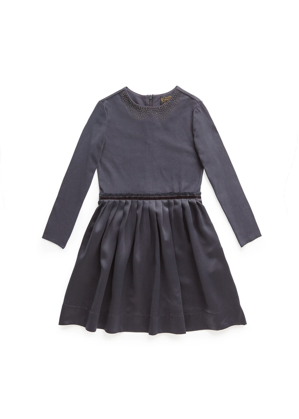 Pleated skirt rhinestone dress | MANGO KIDS