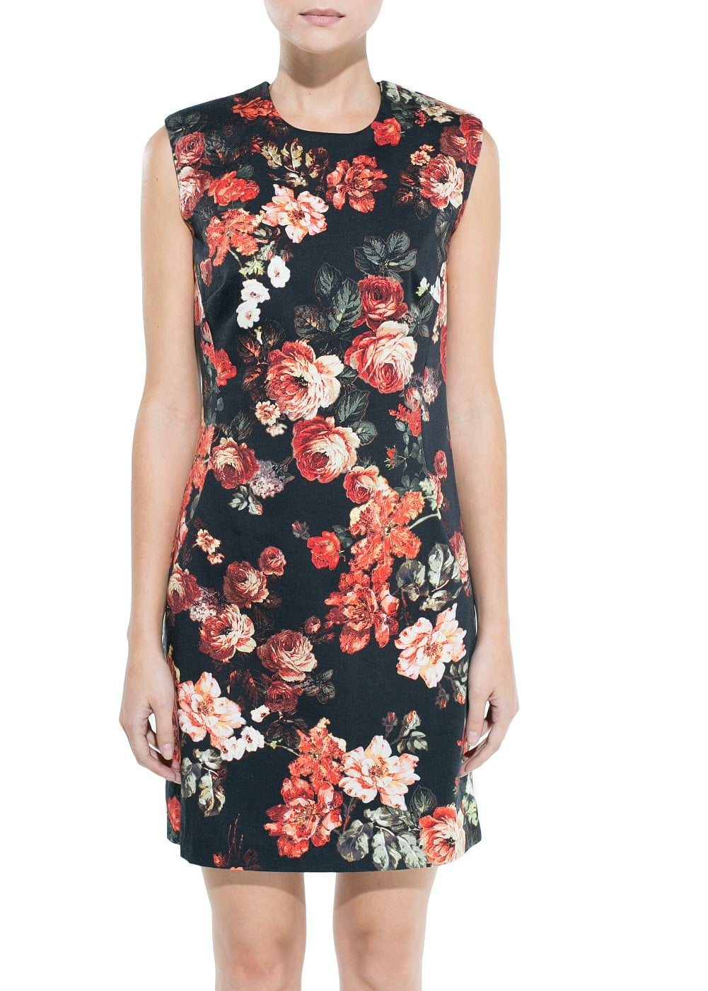 Floral print pencil dress | MANGO