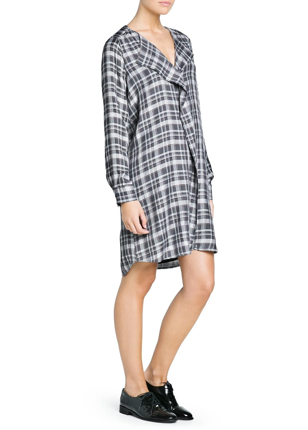 Check shirt dress | MANGO