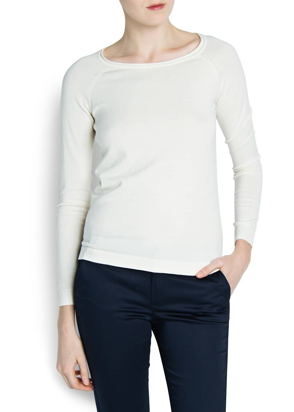Raglan sleeve cotton-blend sweater | MANGO