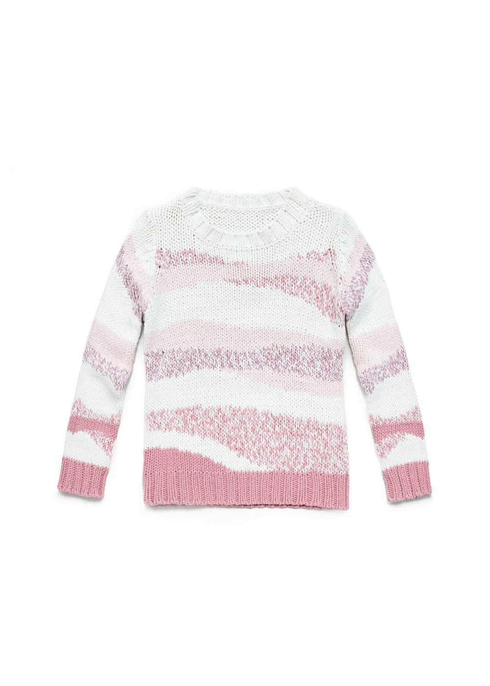 Asymmetric stripe knit sweater | MANGO KIDS