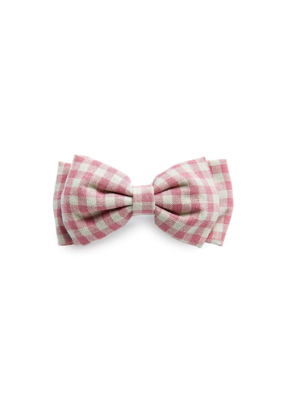 Gingham check bow hairclip | MANGO KIDS