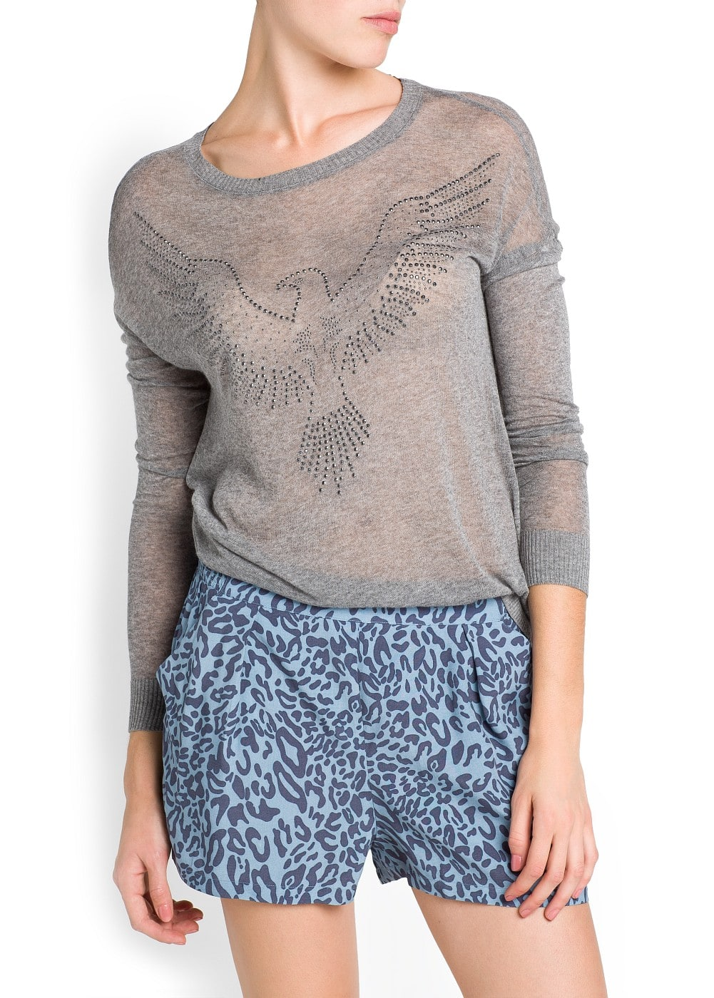 Strass eagle sweater | MANGO