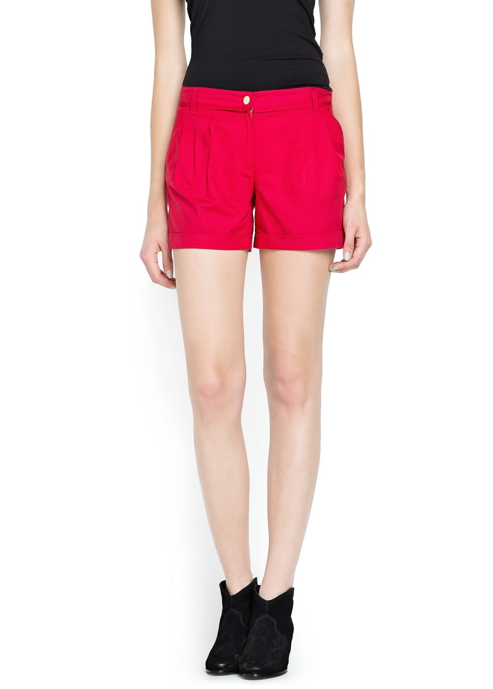 Pleated cotton shorts | MNG