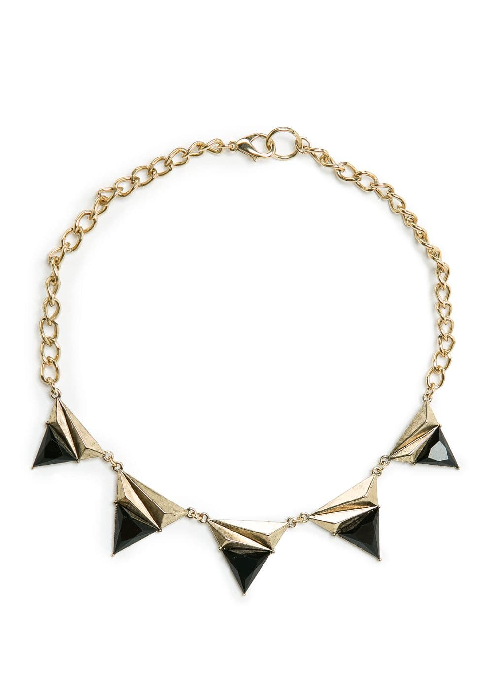Contrasted triangles choker | MANGO