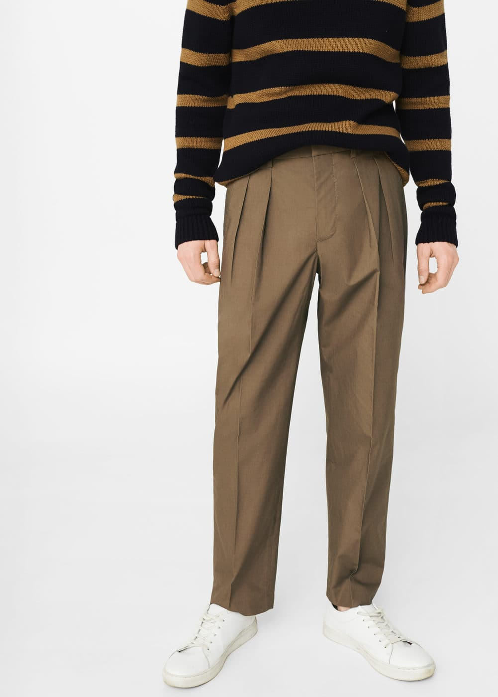 Cotton crop trousers | MANGO MAN