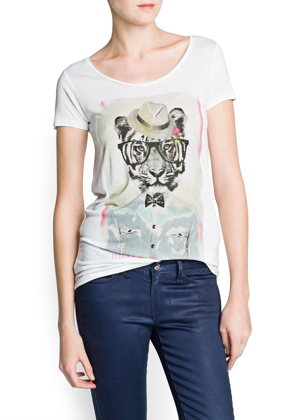 Short sleeved printed t-shirt | MANGO