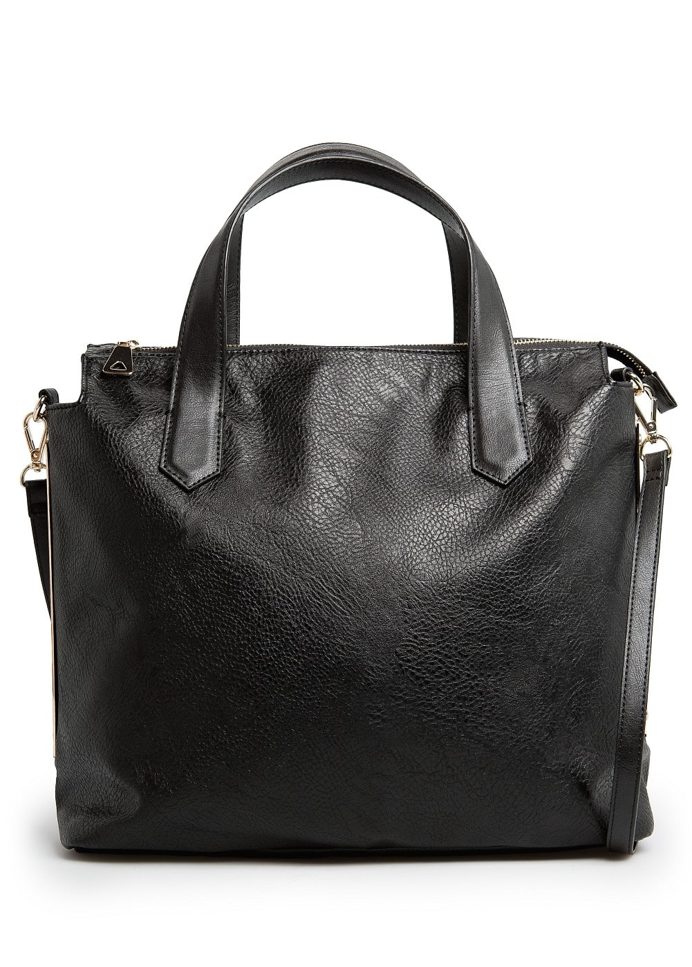 Metal plates tote bag | MANGO