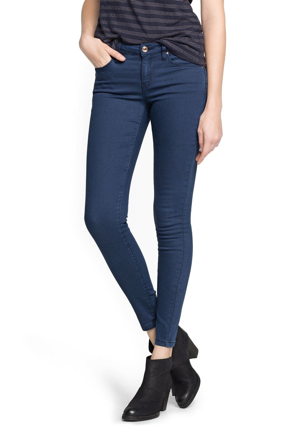 Super slim-fit indigo jeans | MANGO