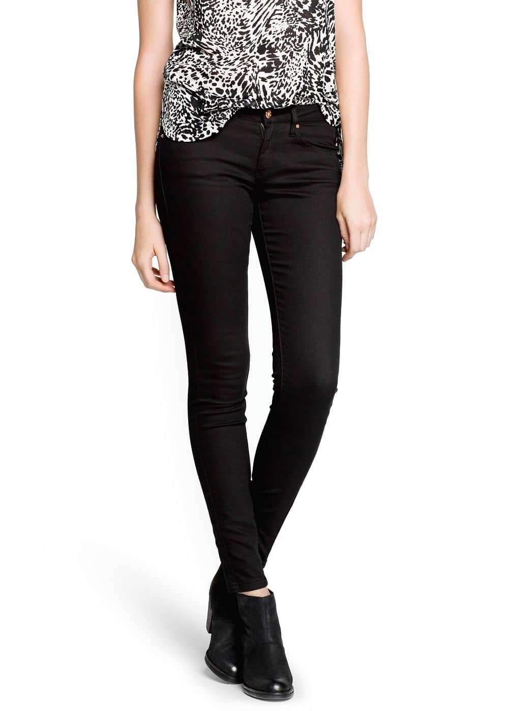 Super slim-fit black jeans | MANGO