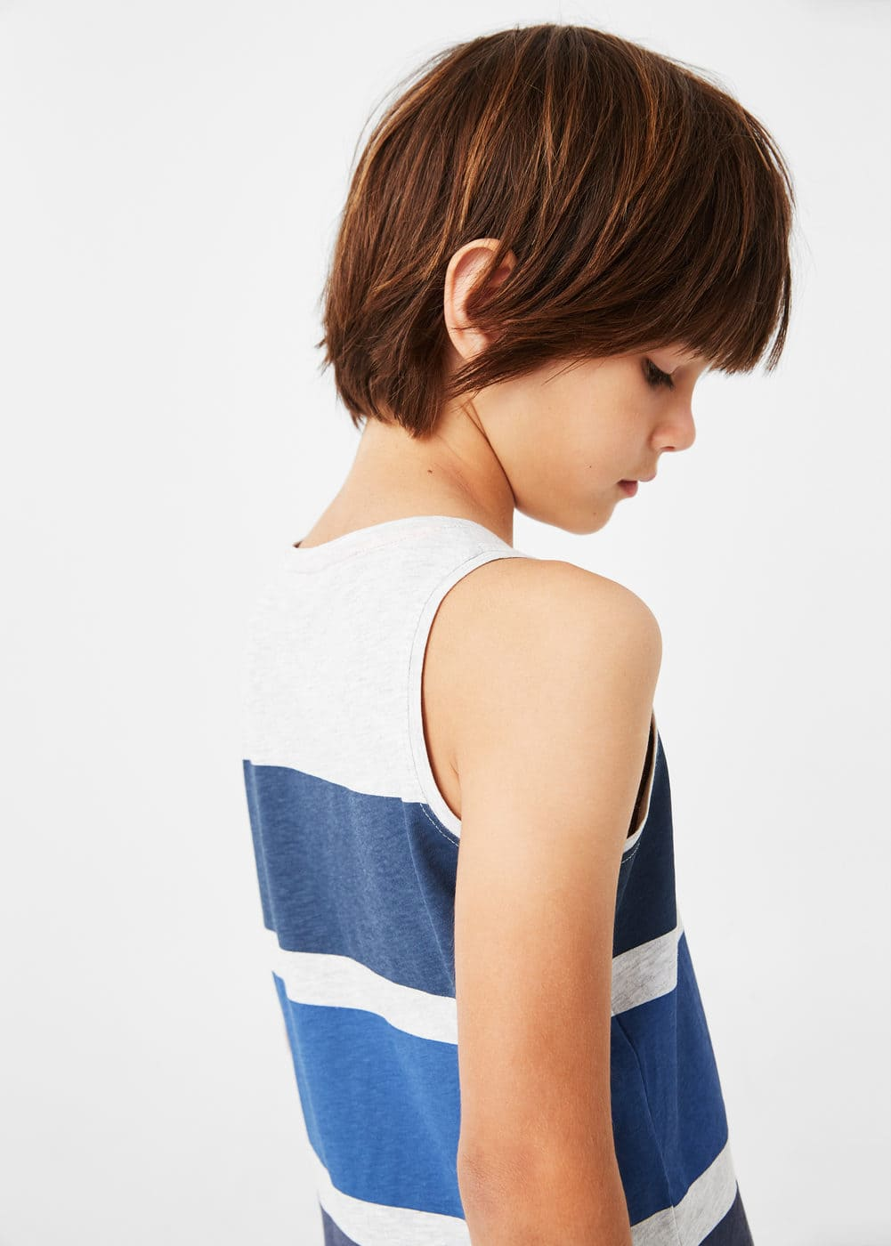 Striped bicolor t-shirt | MANGO