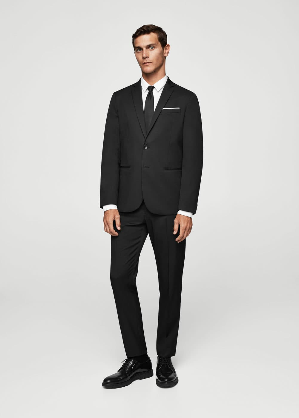 Super slim-fit patterned suit blazer | MANGO MAN