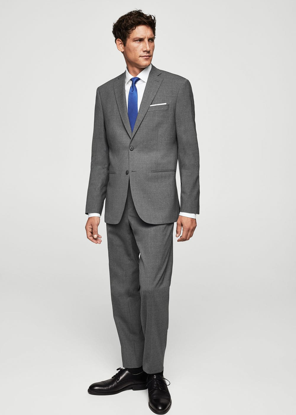 Slim-fit cool wool suit blazer | MANGO MAN