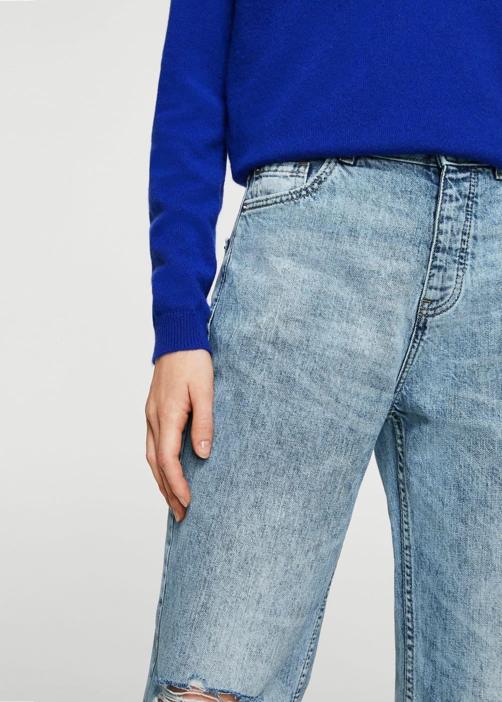 Jean relaxed crop mom | MANGO