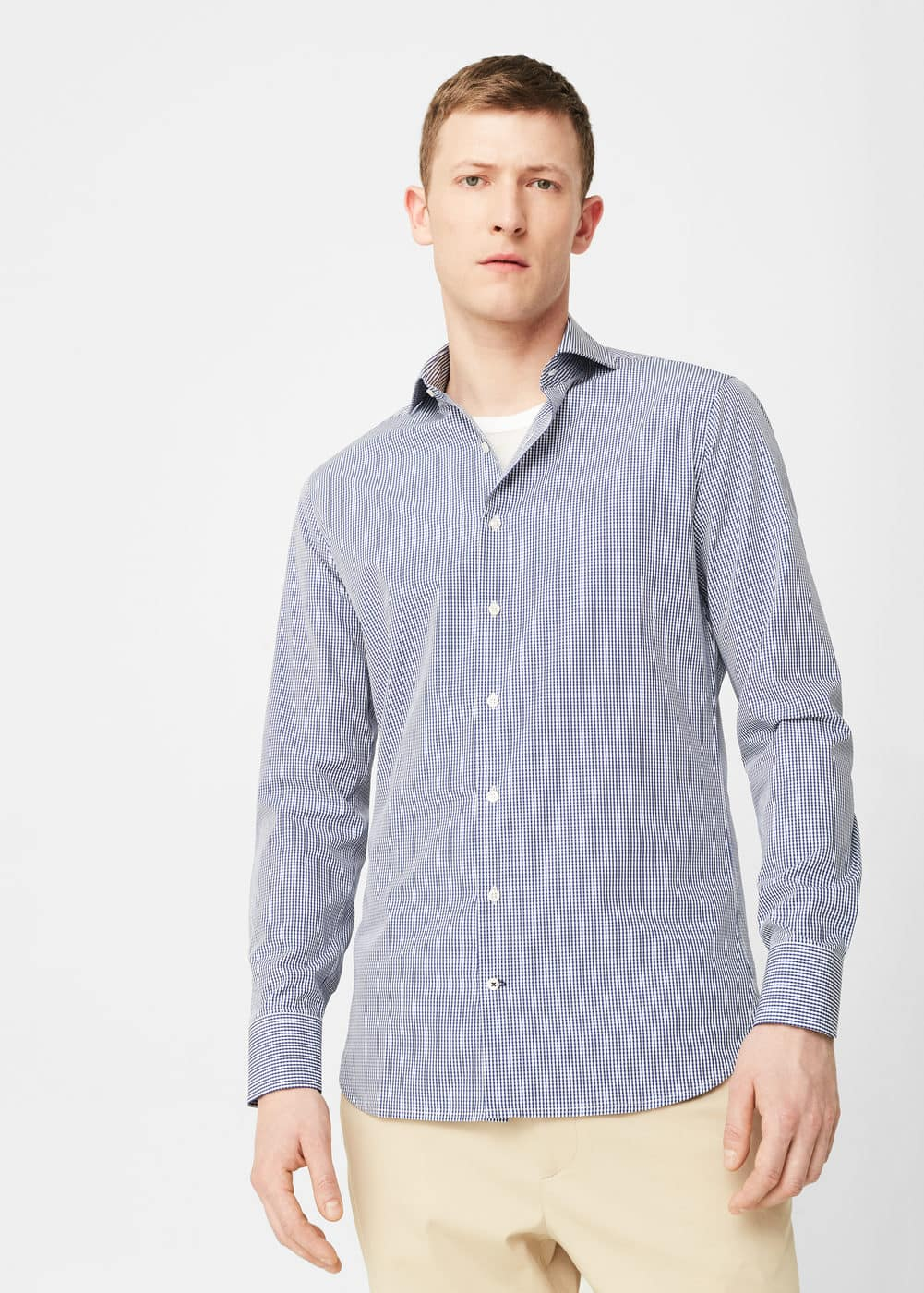 Slim-fit tailored check shirt | MANGO