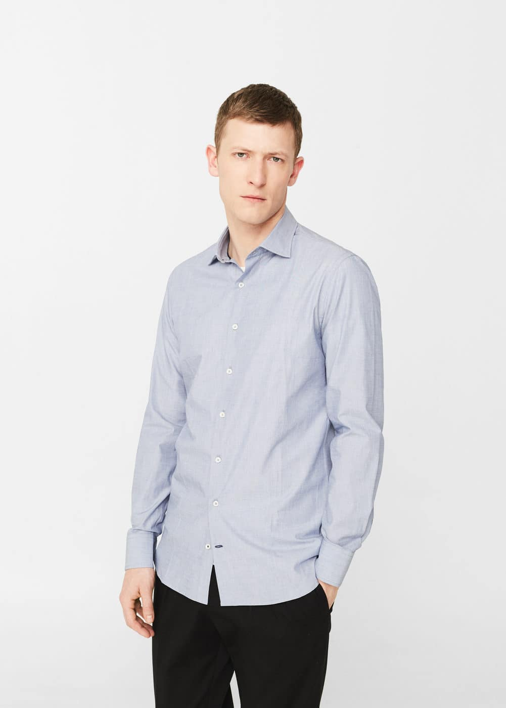 Chemise tailored slim-fit structurée | MANGO