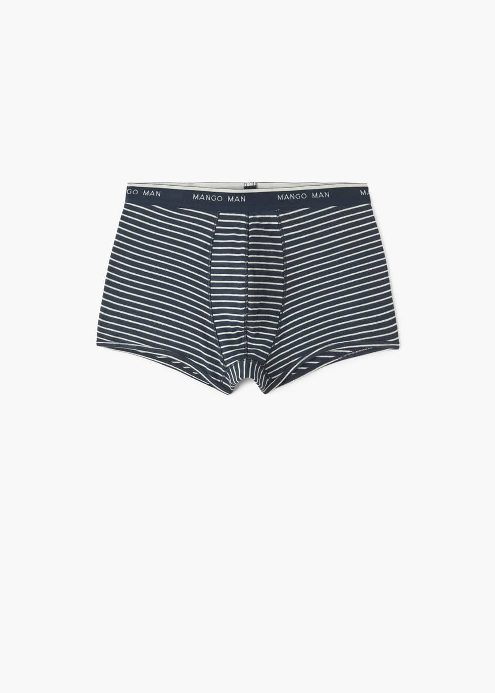 Logo striped cotton boxer briefs | MANGO