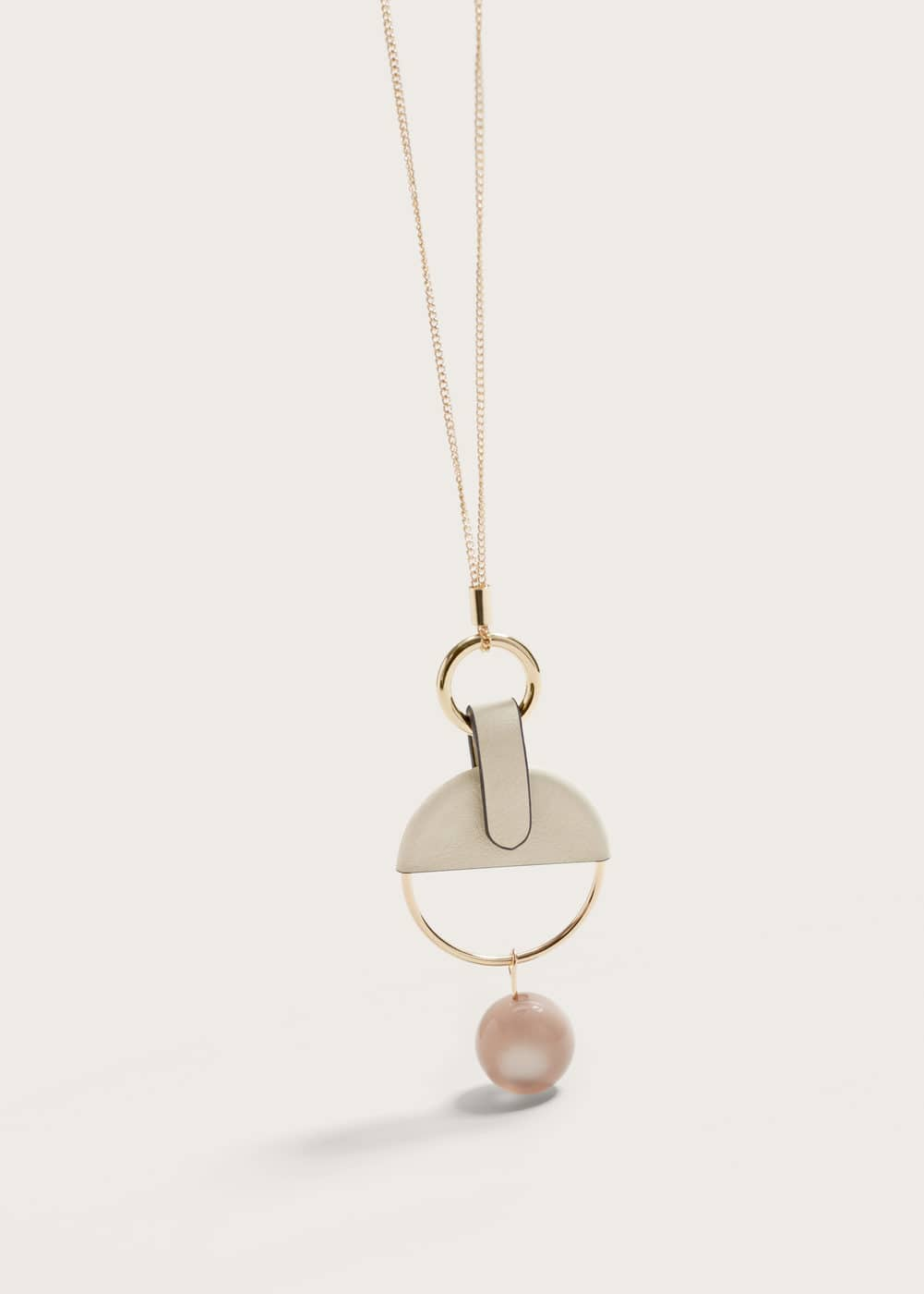 Circular embellishment necklace | VIOLETA BY MANGO